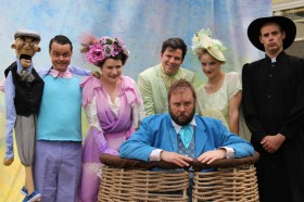 The six person cast of A Company of Fools, The Merry Wives of Windsor