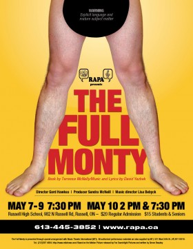 The Full Monty, presented by the Russell Association for the Performing Arts.