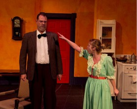 Kilnglehoff and Louise (as played by Allan Zander and Chelsey Cowan). Photo by Maria Vantanova.