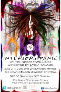 The Red Carpet Theatre Society Presents Interior Panic