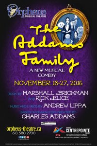 Creepy, kooky, seriously spooky, Orpheus Musical Theatre brings The Addams Family to Centrepointe Theatres.
